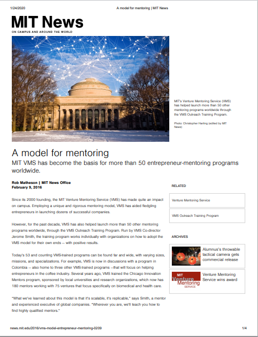 MIT News Article Thumbnail Model for Mentoring 2016